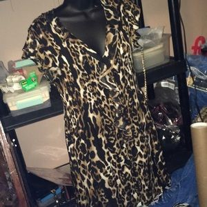 leopard mini with ruffles